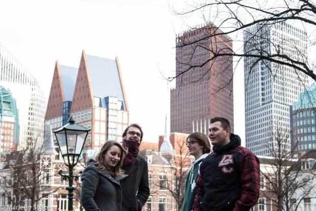 Voor de skyline van Den Haag